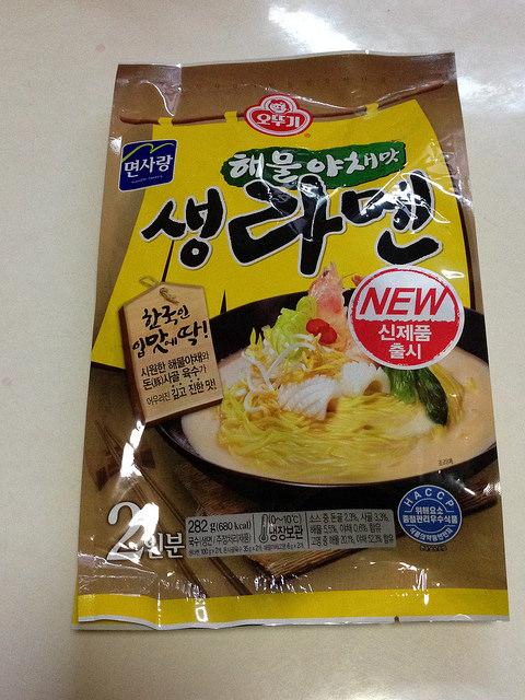 면사랑 해물 야채맛 생 라멘