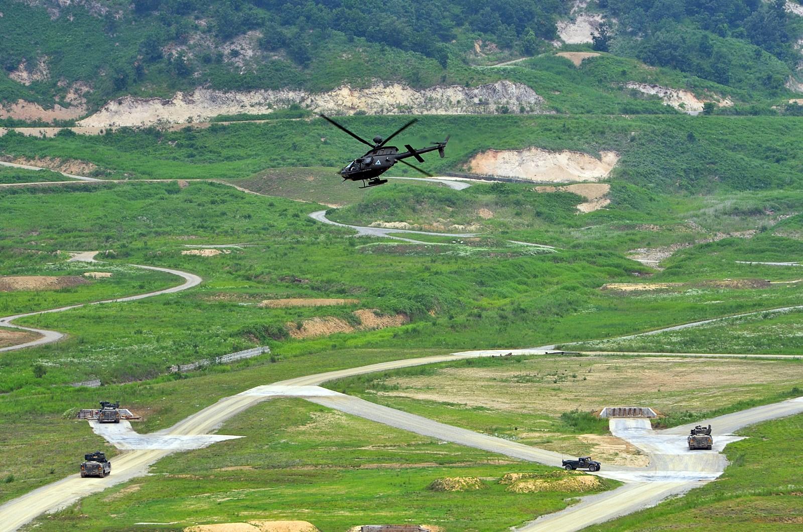 하와이주둔 6기갑 2대대 OH-58D 헬기 평택에 배치