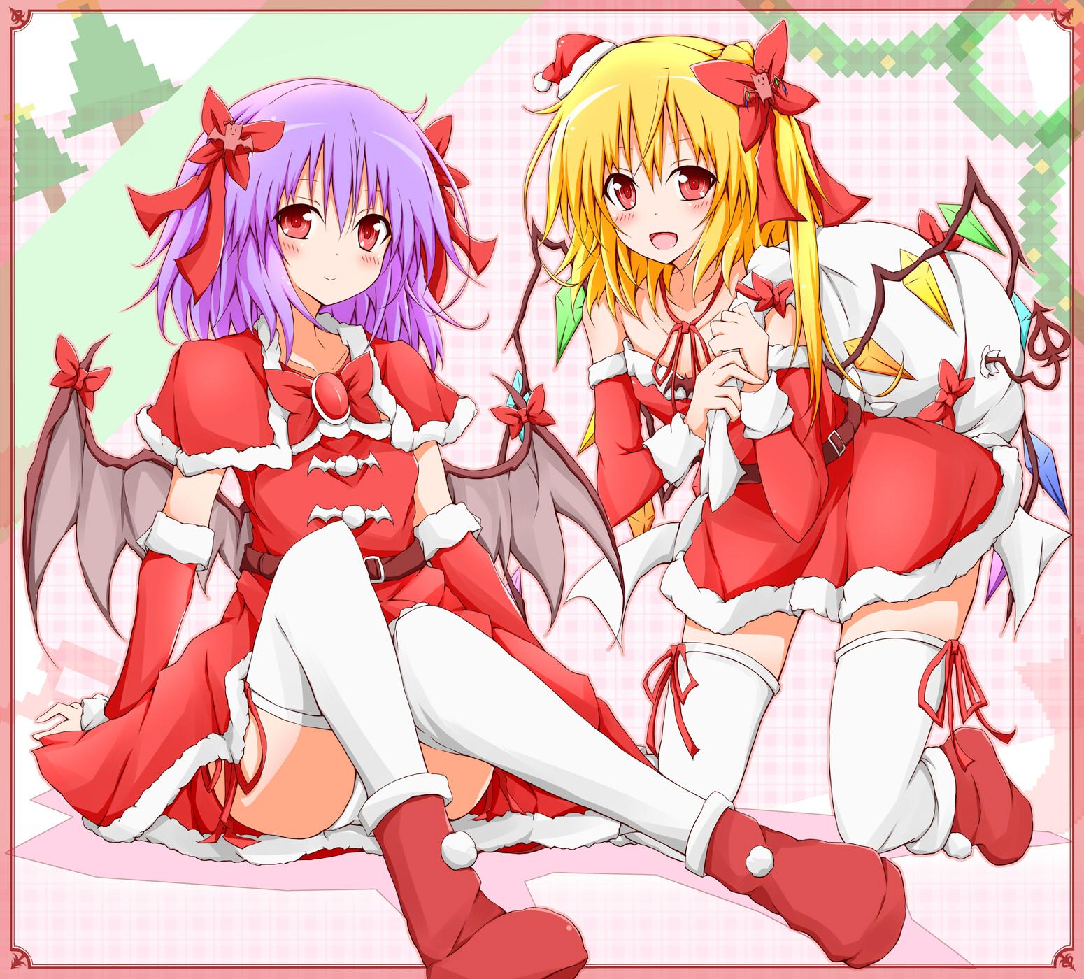 [동방MMD] 플랑과 크리스마스 (フランとクリ..