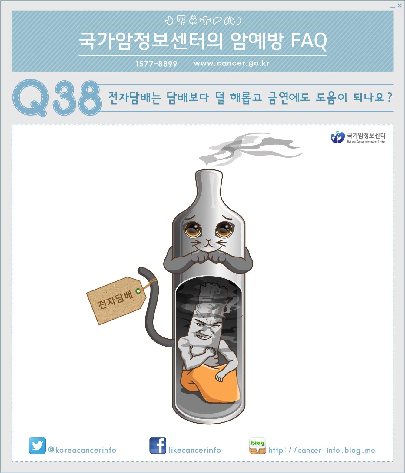 [국가암정보센터 암예방 FAQ] 38. 전자담배는 담..