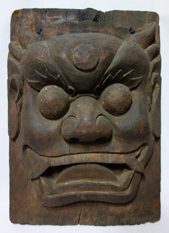 조선시대 쌍뿔 도깨비탈 (국내옥션)