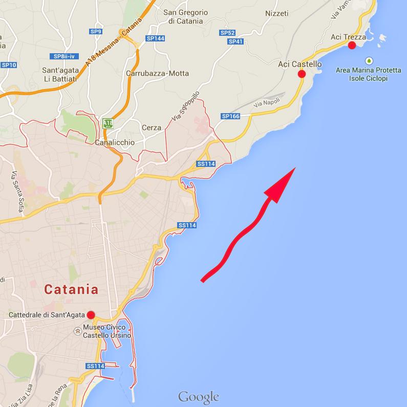 시칠리아 여행 (10)-카타니아, 바다.
