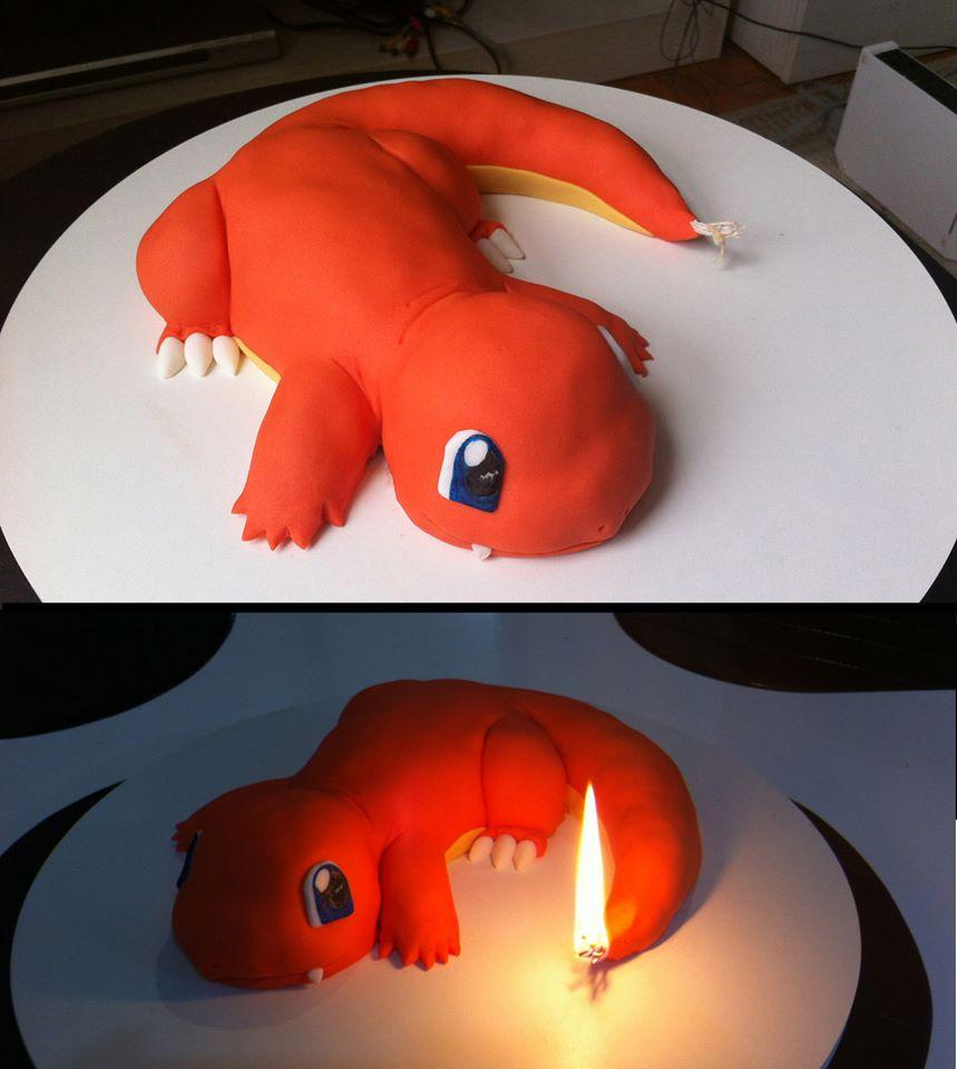 포켓몬스터의 파이리(히토카게) 케이크 사진이랍..