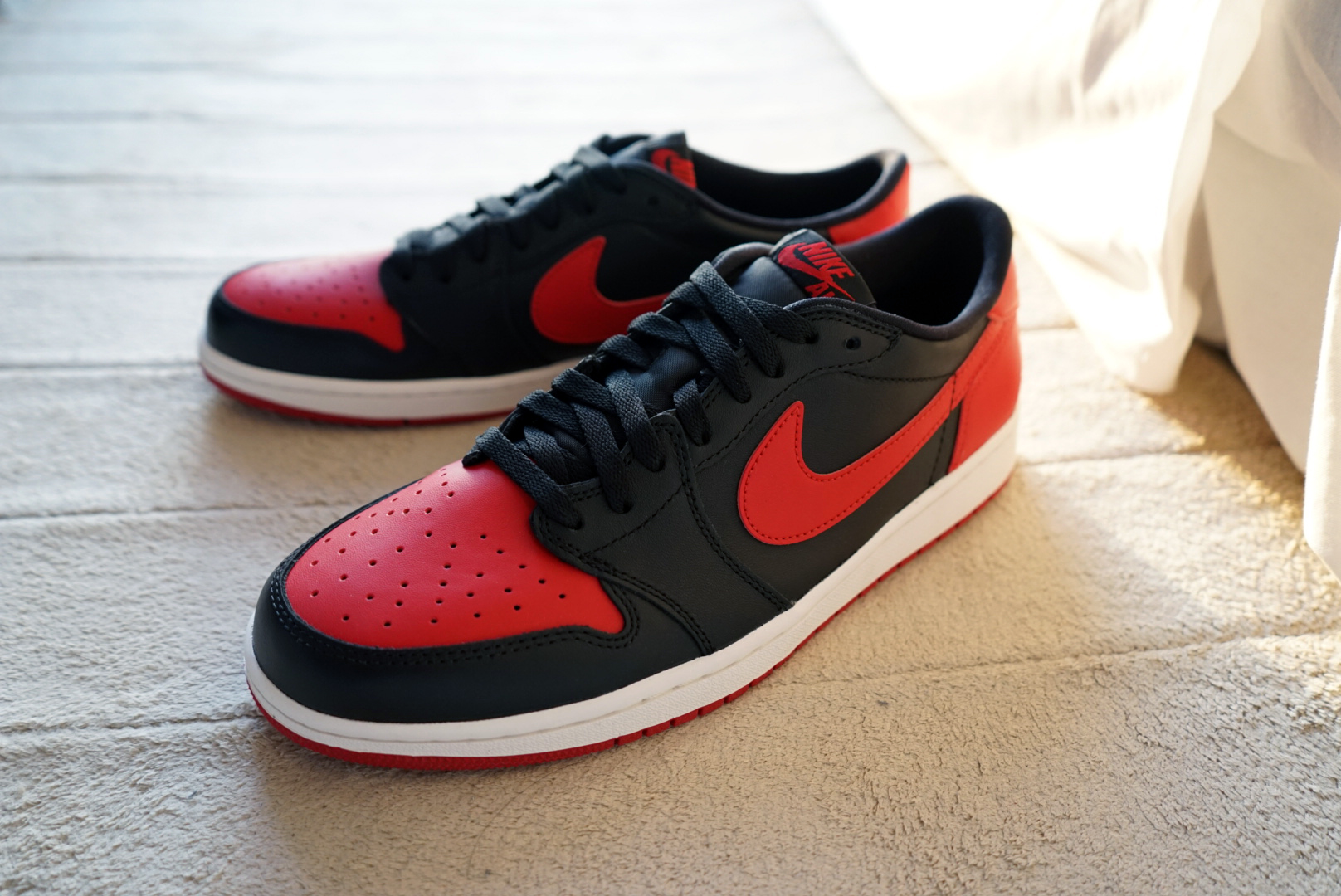 "[리뷰] AIR JORDAN 1 LOW OG ""BRED"""