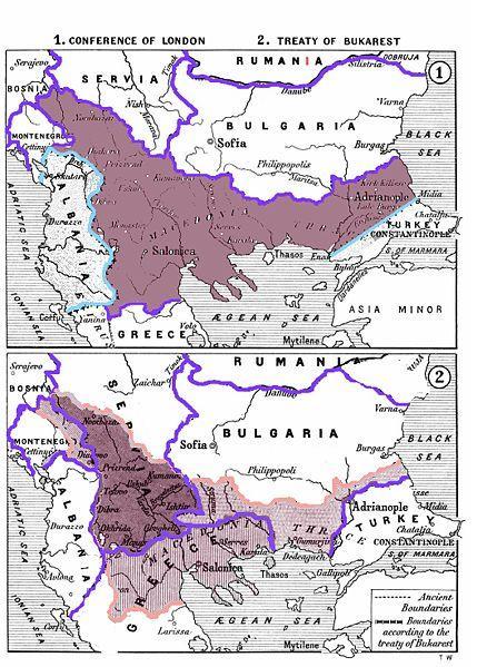 제1차 발칸전쟁 당시 마케도니아 지역 분할 지도
