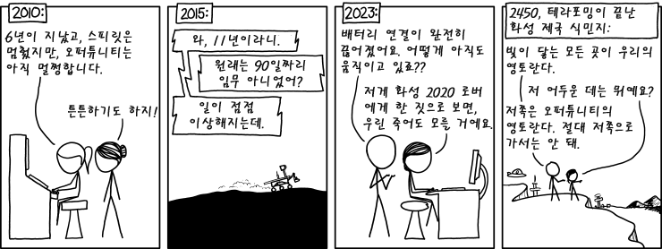 xkcd 1504 - Opportunity 오퍼튜니티