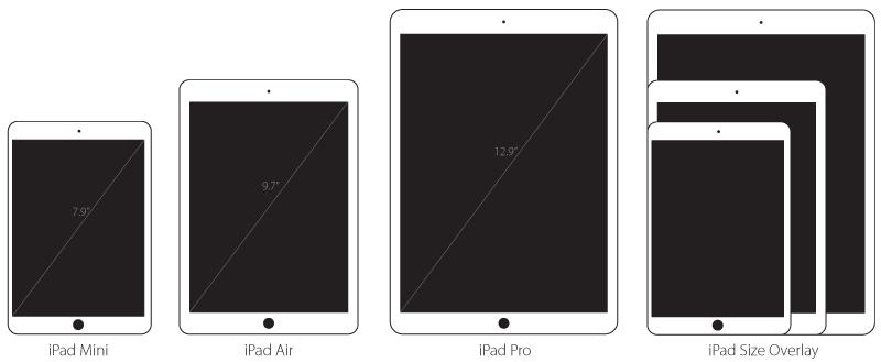 2015 홀리데이 시즌에 12.9인치 iPad Pro와 7.9인치 i..
