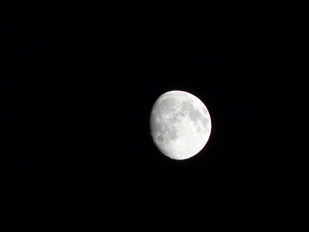 밤하늘에 달이 너무 밝아서