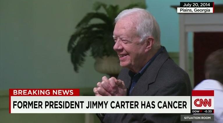 카터, 암 발병...전이