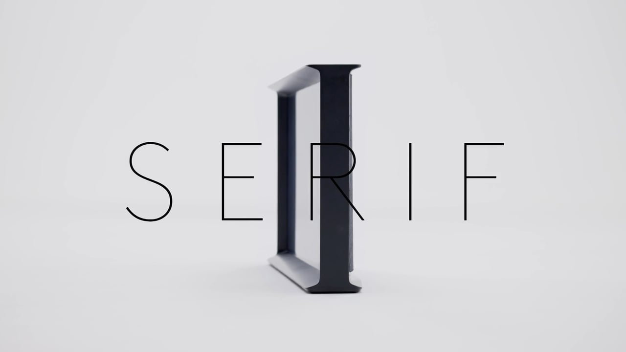 Serif TV for Samsung (designed by Ronan..