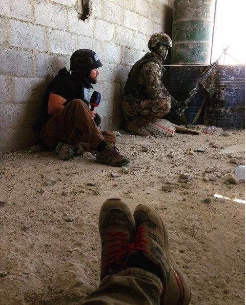 시리아군을 찍은 러시아 기자