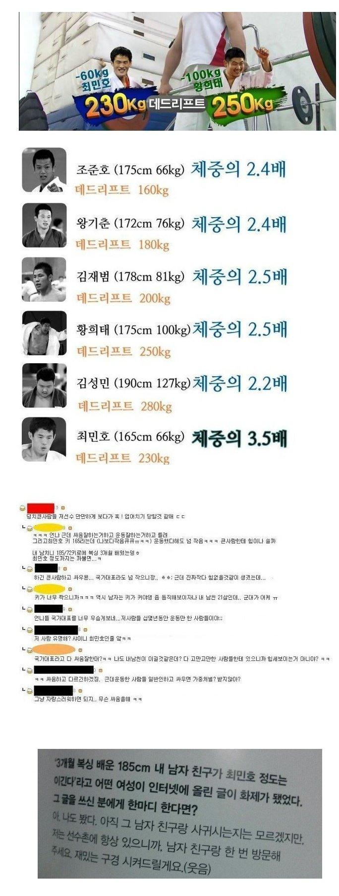 최민호 VS 복싱 3개월 배운 185 남친 - 최민호 반응