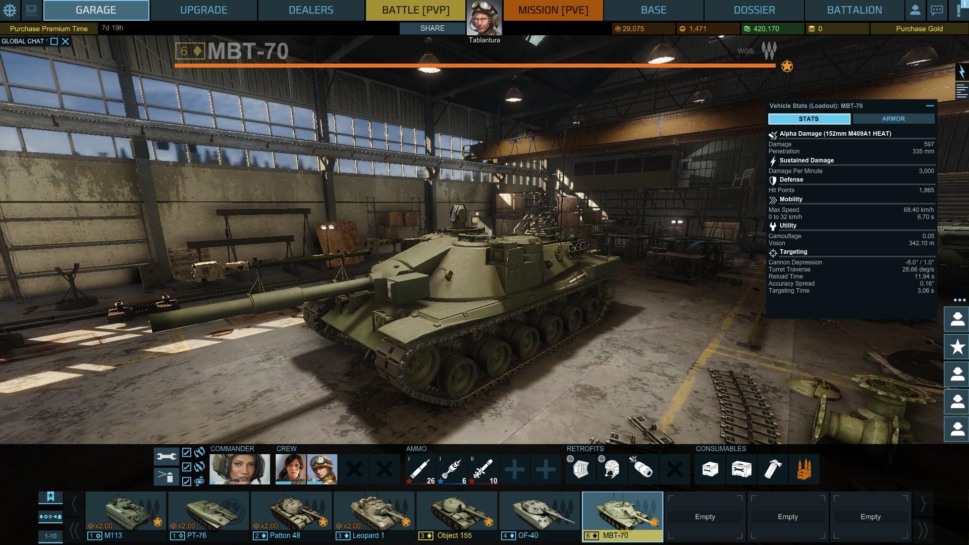 [아머드 워페어] 술 기운에 질렀다. MBT-70