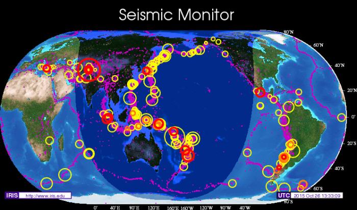 지난 6년 동안 있었던 큰 지진들 영상