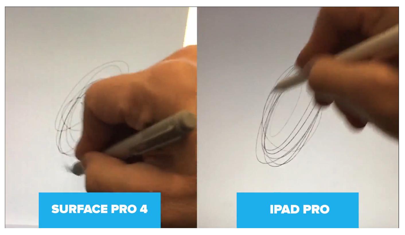애플 펜슬 대 서피스 프로4 펜