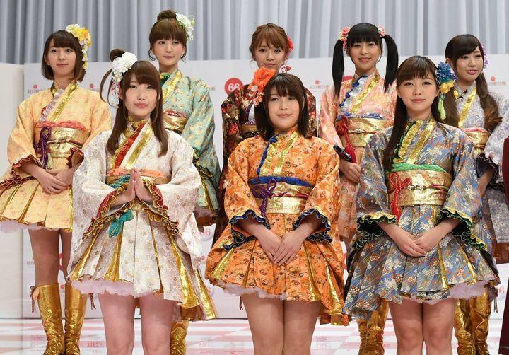제 66회 NHK 홍백가합전 기자 회견에서 '러브라이브'..