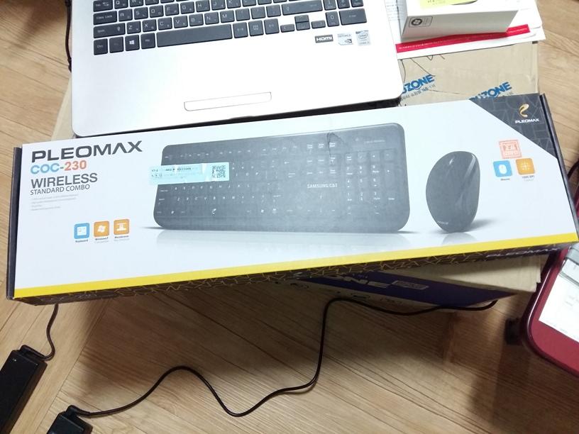 삼성물산 무선 마우스 키보드 PLEOMAX COC-230