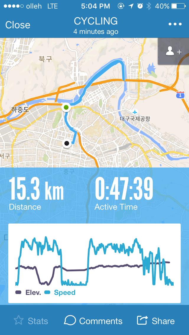 [잡담] 자전거 라이딩 - 20151221 : 신천 강변, 금호강..