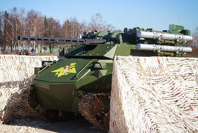 러시아 정찰-화력지원 무인병기 - 우란-9