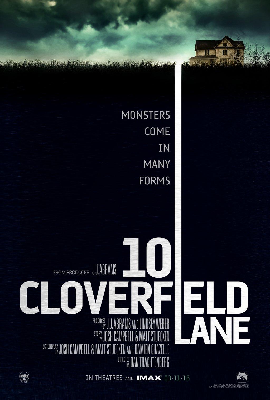 """클로버필드의 속편? """"10 Cloverfield Lane"""" 입니다."""