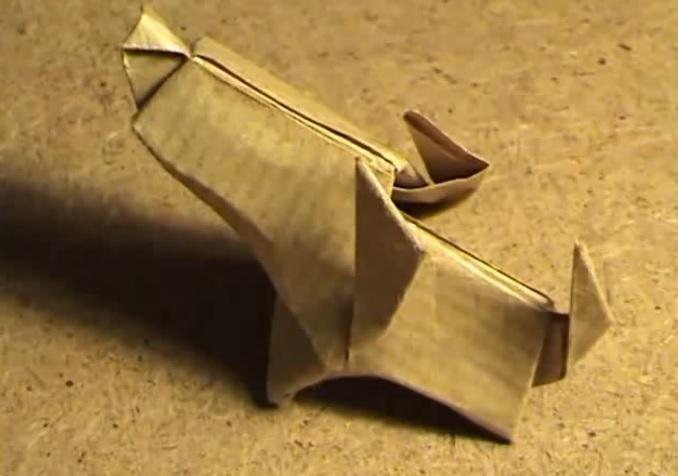 머리큰 작은 개 강아지 종이접기 동영상