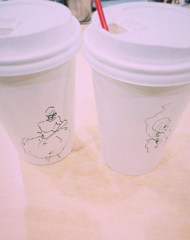 컵이 두개라서