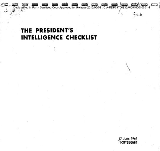 CIA는 대통령에게 매일 무엇을 보고할까?