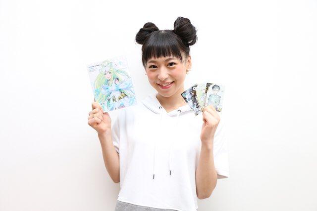 성우 토쿠이 소라씨의 사진이 귀엽네요.