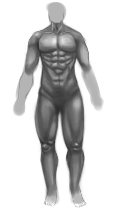 원화공부 일지 - 근육 드로잉 (160422)