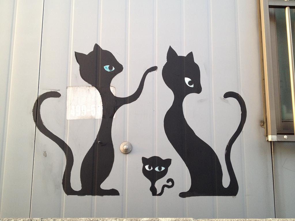 성수동에 있는 고양이 벽화