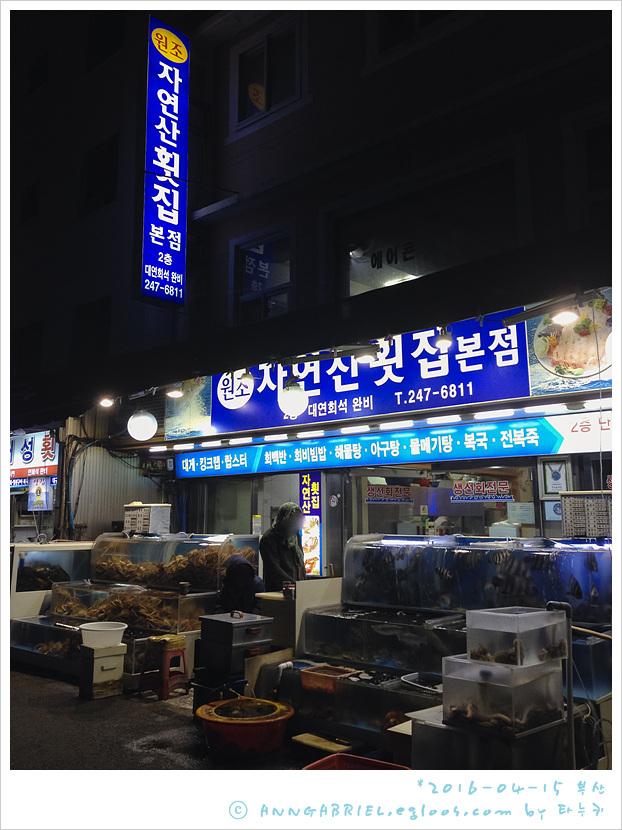 [부산] 새벽녘 모둠회 한상, 자연산횟집