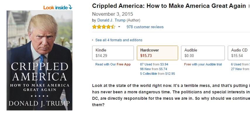 트럼프의 새 책을 어떻게 소개할 것인가? ^^
