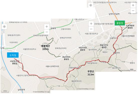 [등산] 우면산 (남부터미널 ~ 사당역)
