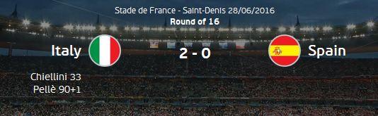 유로 2016 16강 이탈리아 vs 스페인