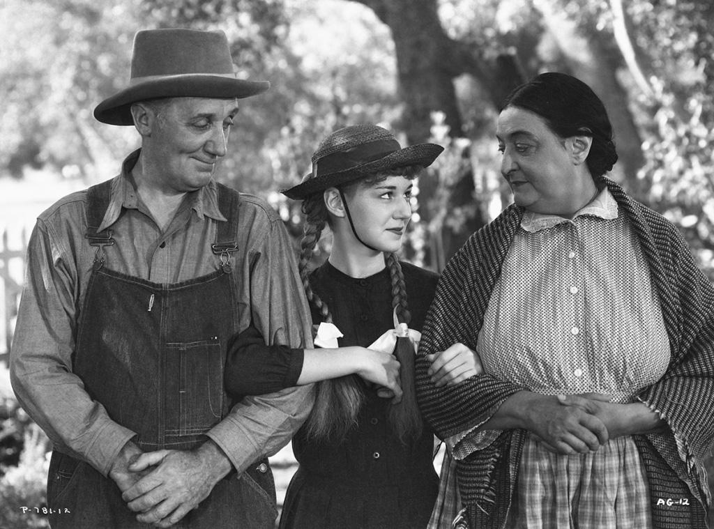 1934년 빨강머리 앤 흑백영화 스틸컷