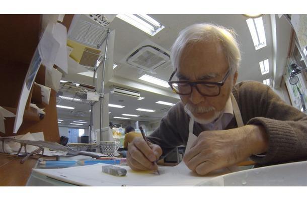 미야자키 하야오의 신작 작업장 사진입니다.