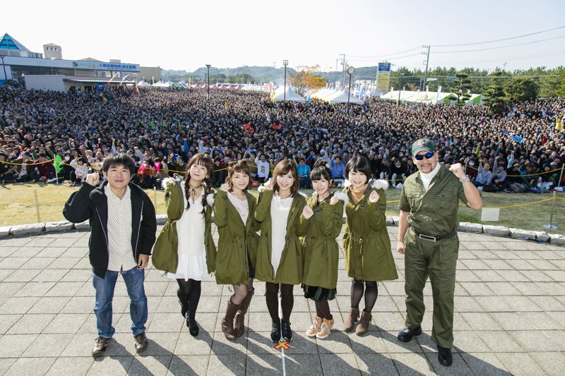 제 20회 오오아라이 아귀축제에서 걸판 성우들이 찍..