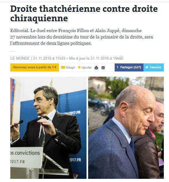 [프랑스]피용과 쥐페의 대결은 정치철학의 대결이다!