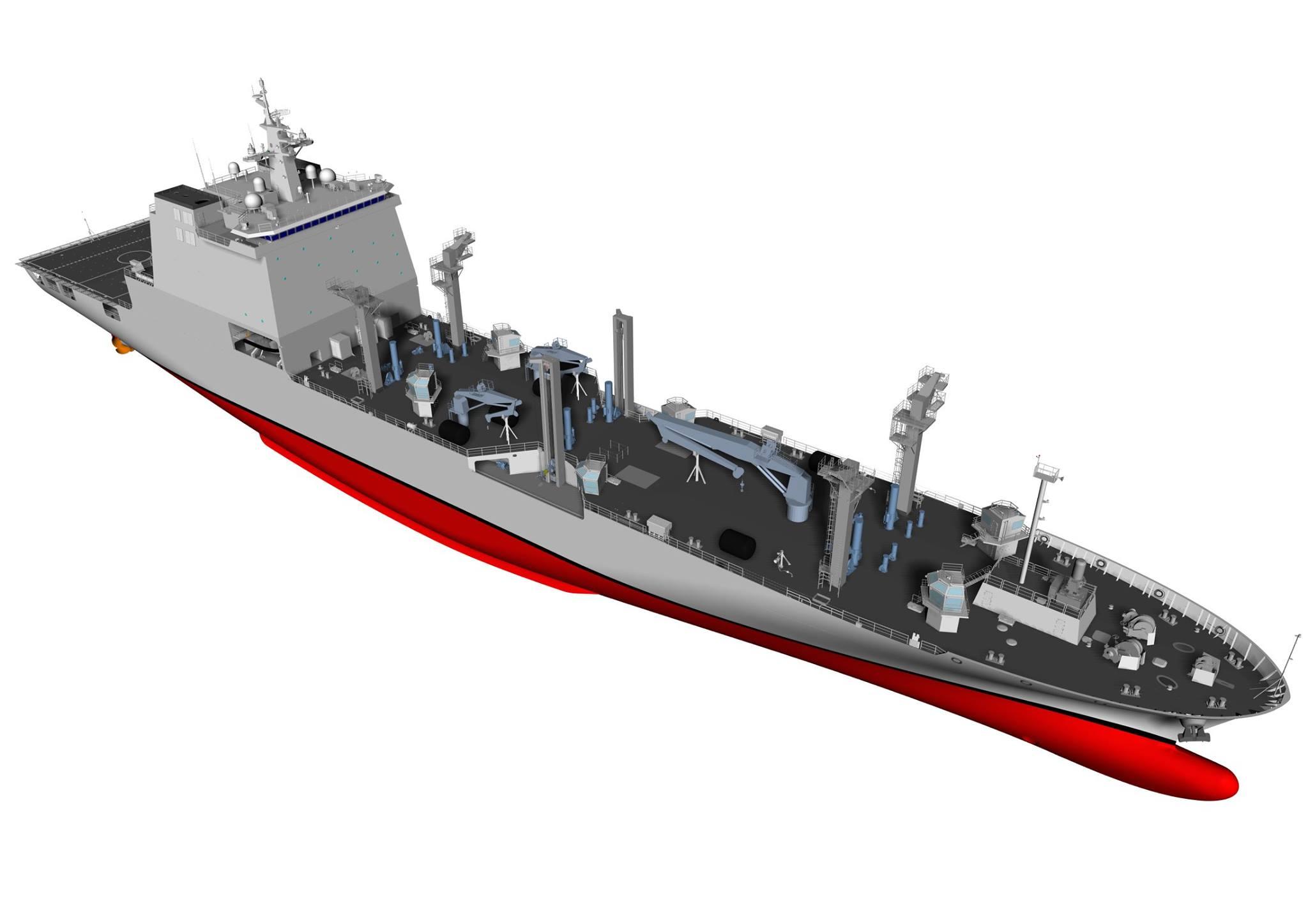 1만톤급 군수지원함 소양함 진수