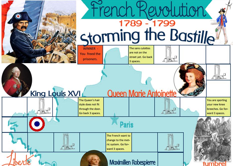 수업 자료 - 프랑스 혁명 보드게임