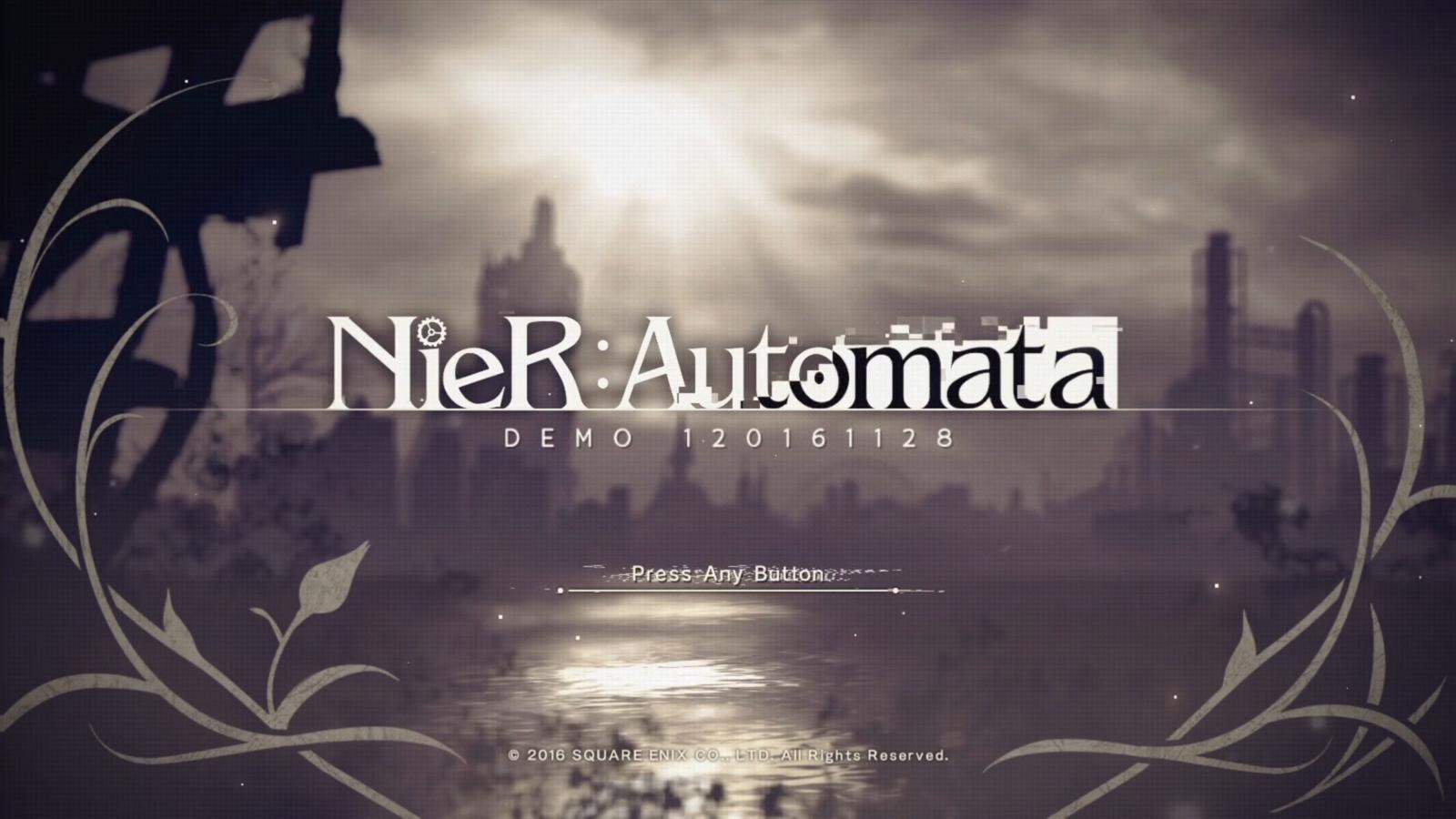 NieR: Automata DEMO 120161128