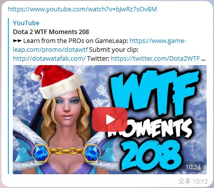 도타2 WTF 텔레그램 봇(Dota2 WTF Telegram B..