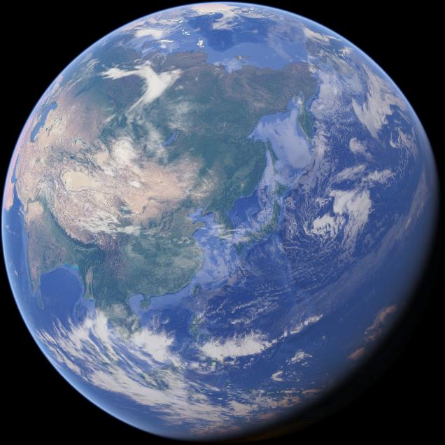 'Google 지도' 속 지구