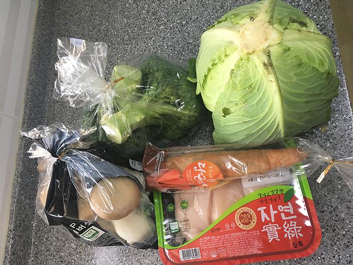 똥꼬일기 - 채소 자연식하기