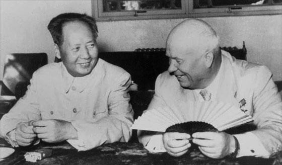 1950년대말, 흐루쇼프와 모택동의 갈등...