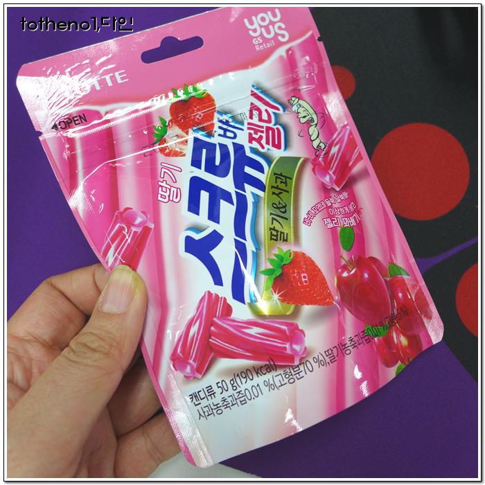딸기 스크류바 젤리 딸기&사과[GS25]