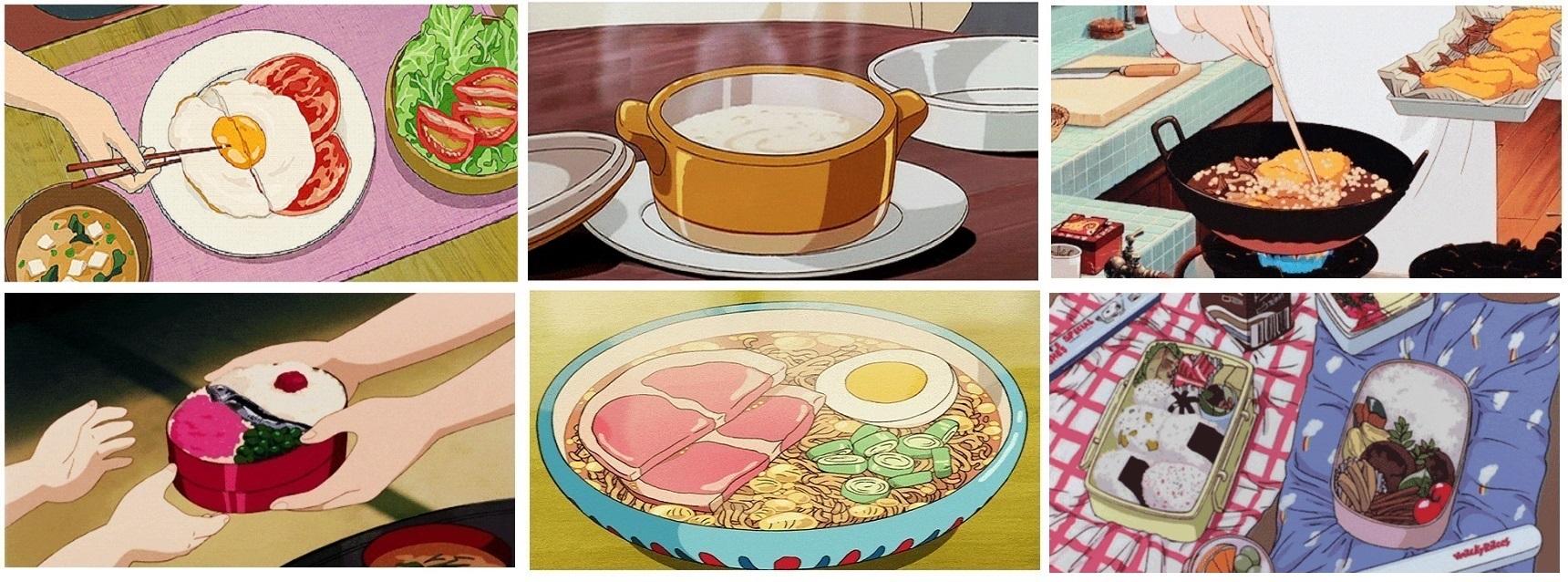 애니메이션과 소박한 음식, 상점가(商店街)