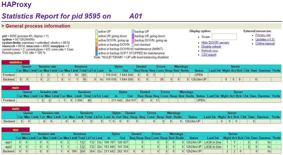 로드벨런싱 (HAProxy) - haproxy-1.5.18-3.e..