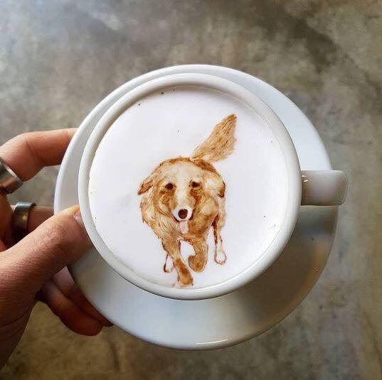 어느 카페의 라떼아트!!!