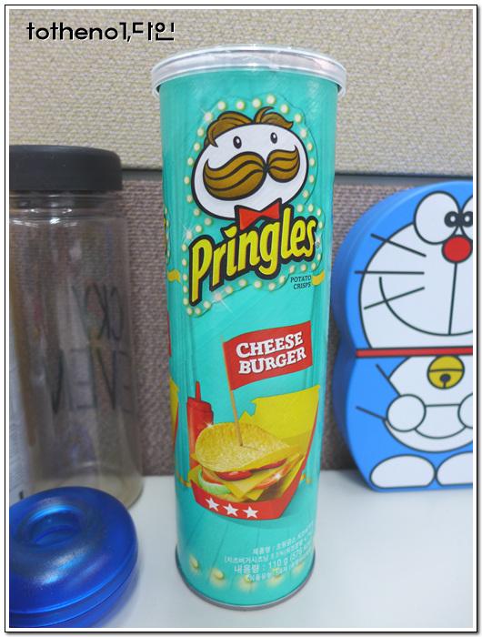 감자칩은 어디로 가는가... 프링글스 치즈버거맛